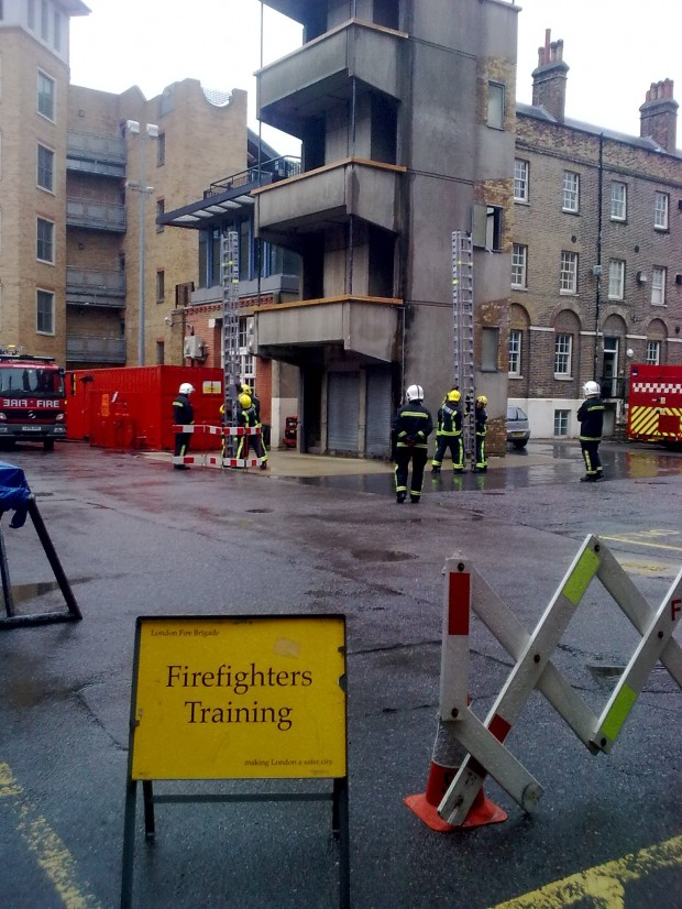 Firefighter training at Southwark Fire Station