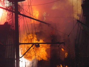Fire in the masts