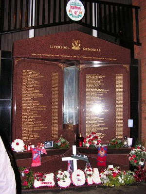 Hillsborough Memorial, Anfield
